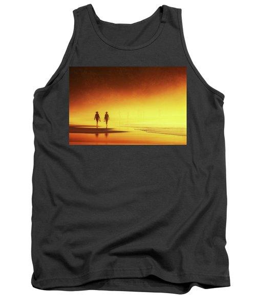 Couple Of Women Walking On Beach Tank Top