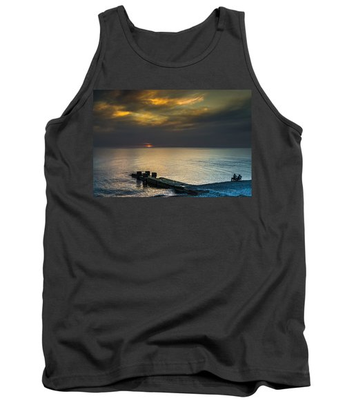 Tank Top featuring the photograph Couple Watching Sunset by John Williams
