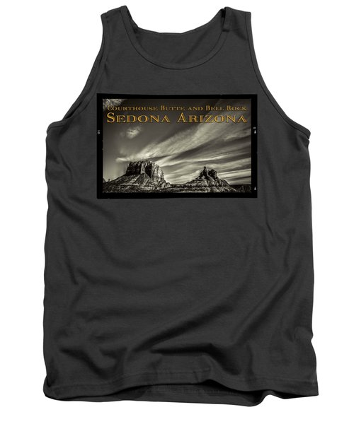 Courthouse Butte And Bell Rock Sedona Arizona Tank Top
