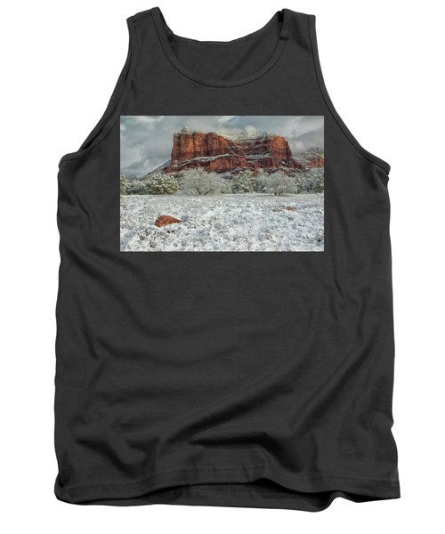 Courthouse In Winter Tank Top