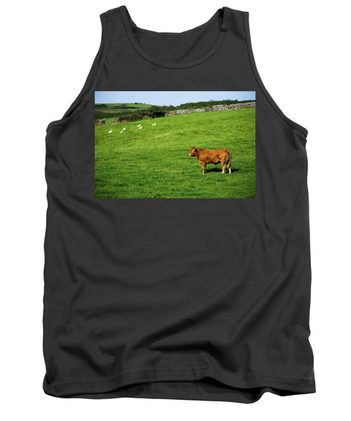 Cow In Pasture Tank Top
