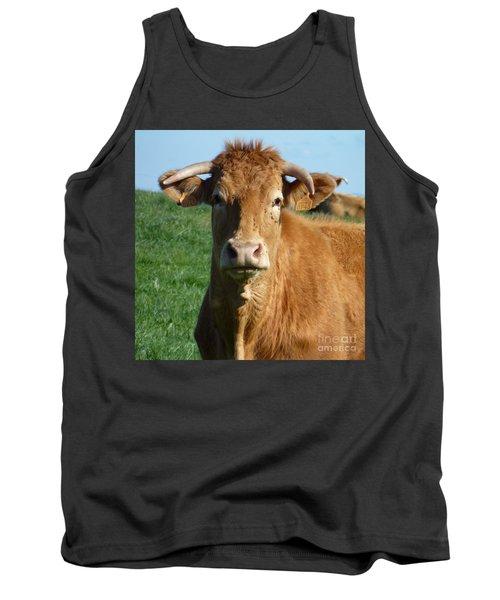 Cow Portrait Tank Top