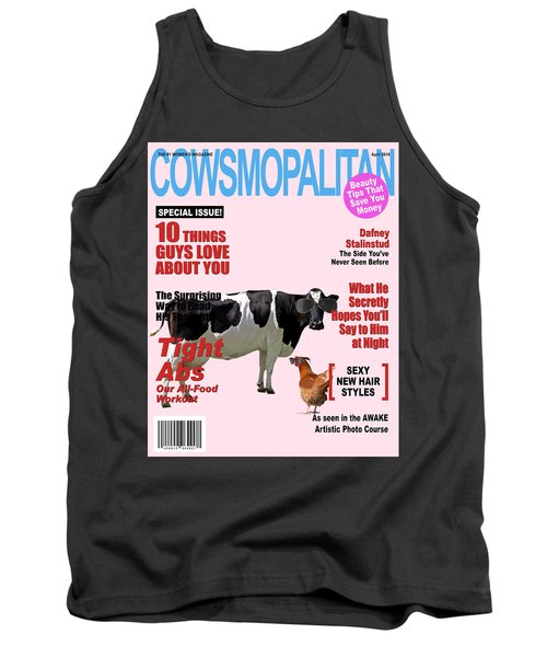 Cow Poster Tank Top by James Bethanis