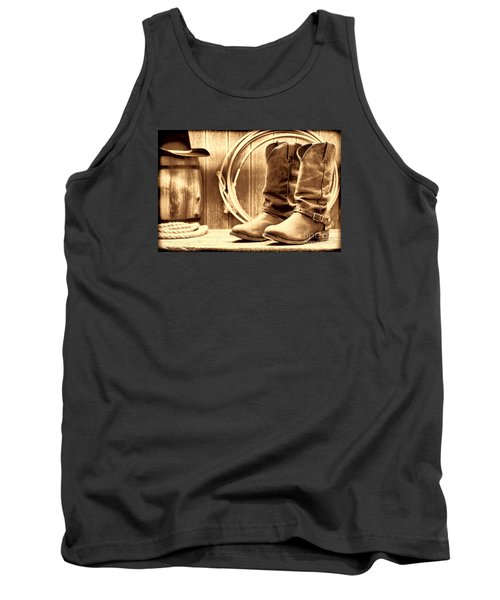 Cowboy Boots On The Deck Tank Top