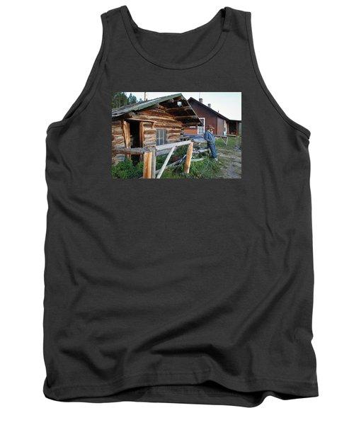 Cowboy Cabin Tank Top by Diane Bohna