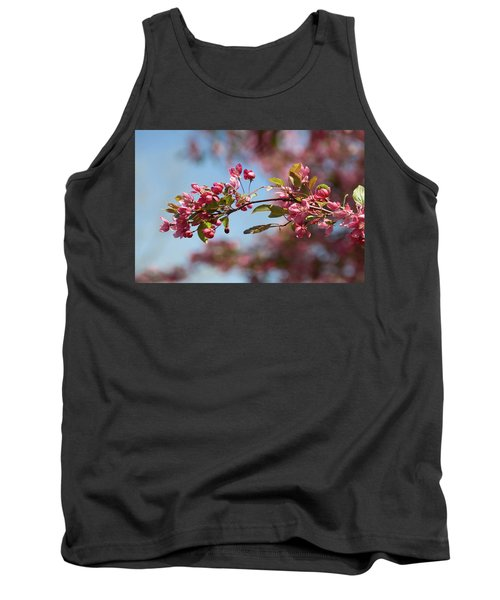 Crabapple In Spring Section 1 Of 4 Tank Top