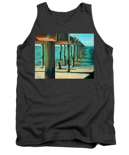Crabbing At Low Tide Tank Top by Suzanne McKee
