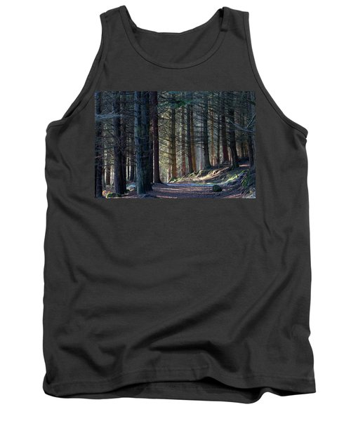 Tank Top featuring the photograph Craig Dunain - Forest In Winter Light by Karen Van Der Zijden