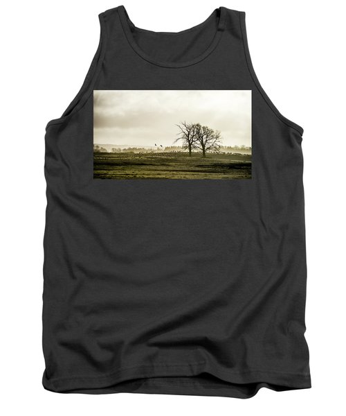Tank Top featuring the photograph Crane Hill by Torbjorn Swenelius