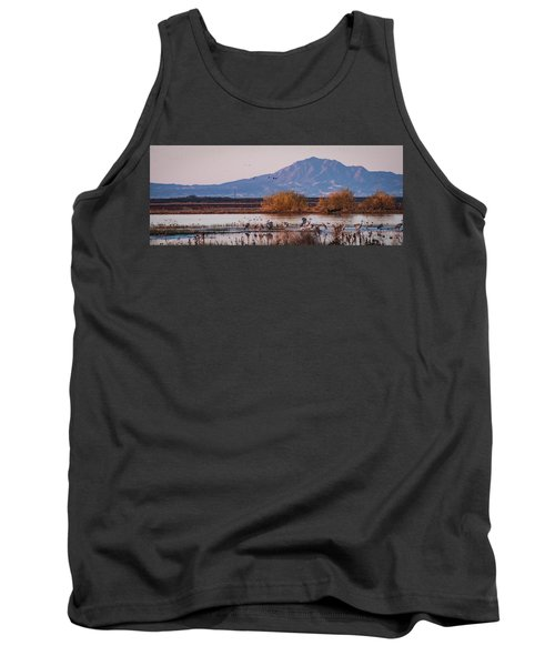 Cranes In The Morning Tank Top