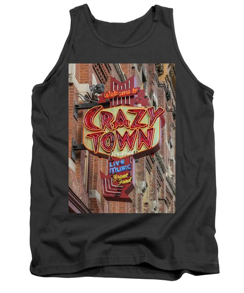 Tank Top featuring the photograph Crazy Town by Stephen Stookey
