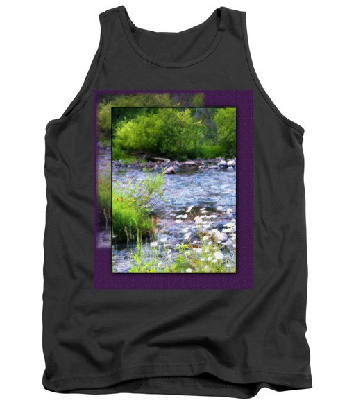 Tank Top featuring the photograph Creek Daisys by Susan Kinney