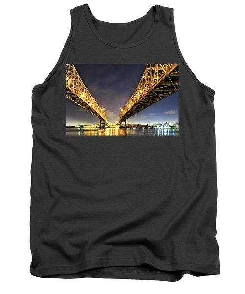 Crescent City Bridge In New Orleans Tank Top