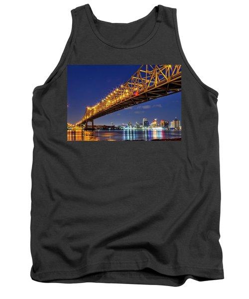 Crescent City Bridge, New Orleans, Version 2 Tank Top