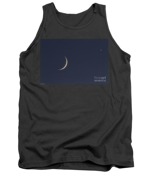 Tank Top featuring the photograph Crescent Moon And Venus by Mitch Shindelbower