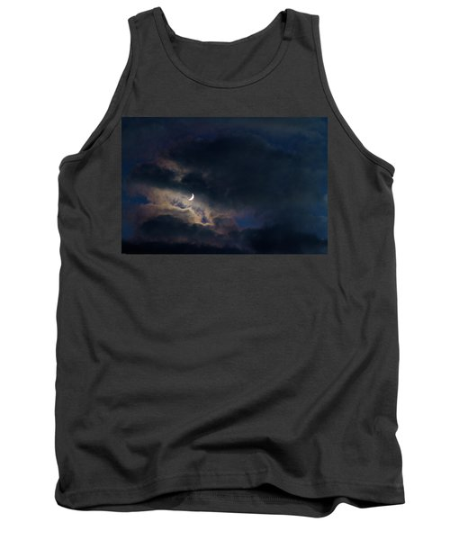 Tank Top featuring the photograph Crescent Moon In Hocking Hilla by Haren Images- Kriss Haren
