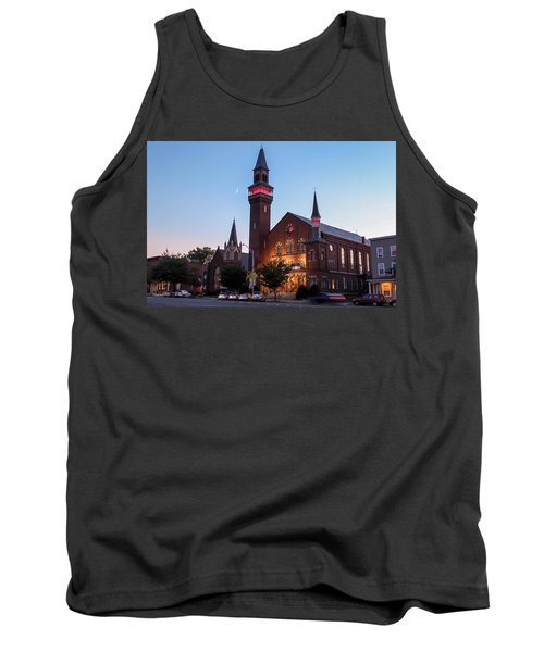 Crescent Moon Over Old Town Hall Tank Top