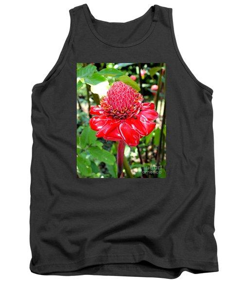 Crimson Bloom Tank Top