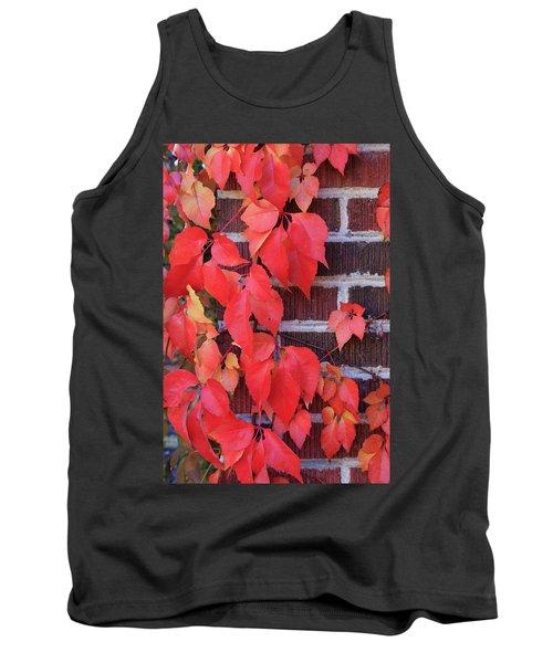 Crimson Leaves Tank Top