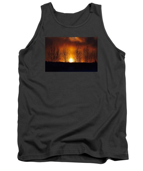 Tank Top featuring the photograph Crisp Sunset by Dacia Doroff