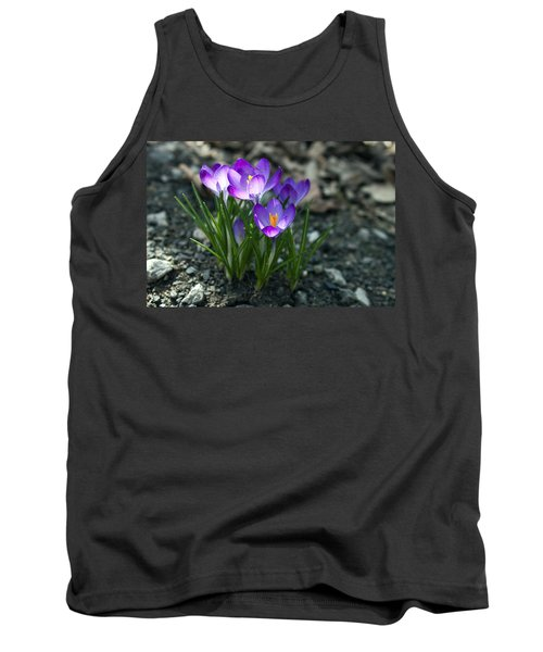 Tank Top featuring the photograph Crocus In Bloom #2 by Jeff Severson