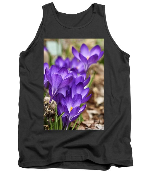 Tank Top featuring the photograph Crocuses by Larry Ricker