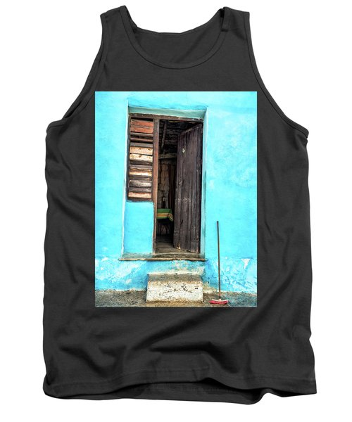 Crooked Blue Tank Top