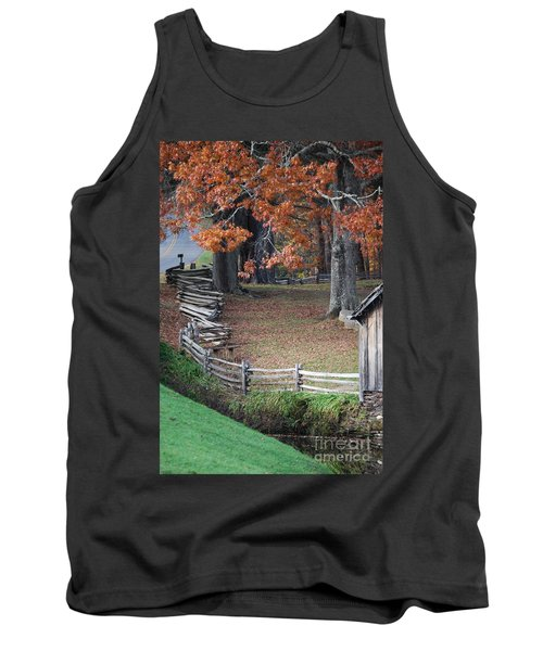 Crooked Fence Tank Top by Eric Liller