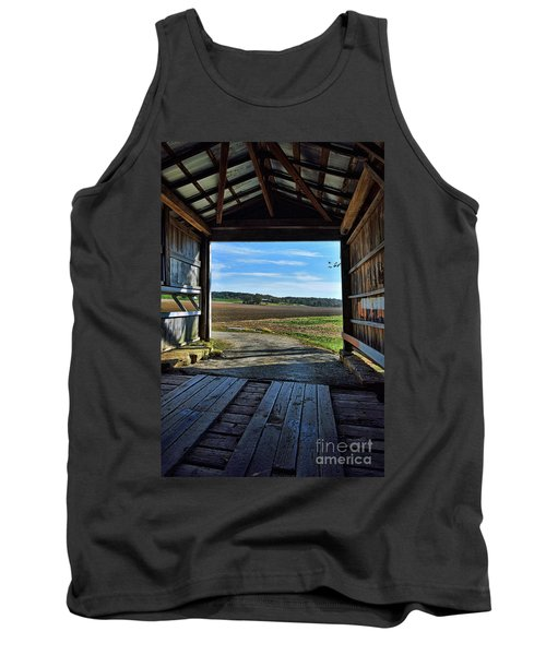 Crooks Covered Bridge 2 Tank Top by Joanne Coyle