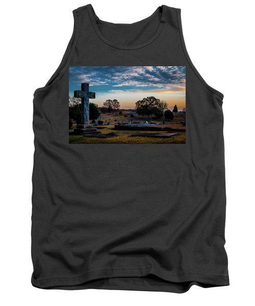 Cross At Sunset Tank Top