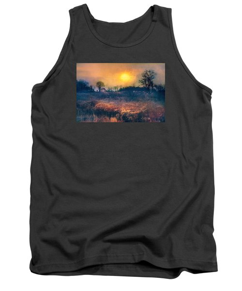 Crossing Through The Meadows Tank Top by John Rivera