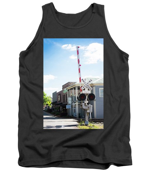 Tank Top featuring the photograph Crossings In Old Town Helena by Parker Cunningham