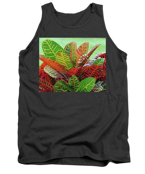 Colorful Croton Bloom Tank Top