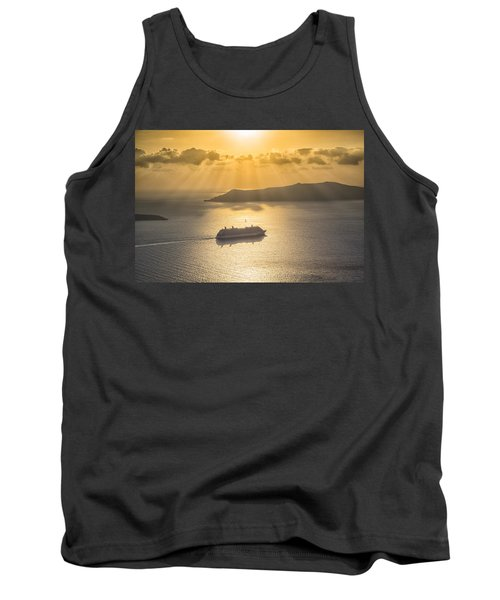 Cruise Ship In Greece Tank Top