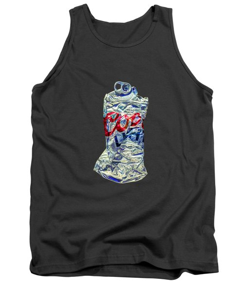 Crushed Silver Light Beer Can On Bw Plywood 80 Tank Top