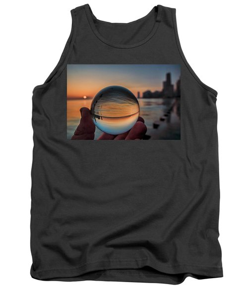 Crystal Ball On Chicago's Lakefront At Sunrise Tank Top
