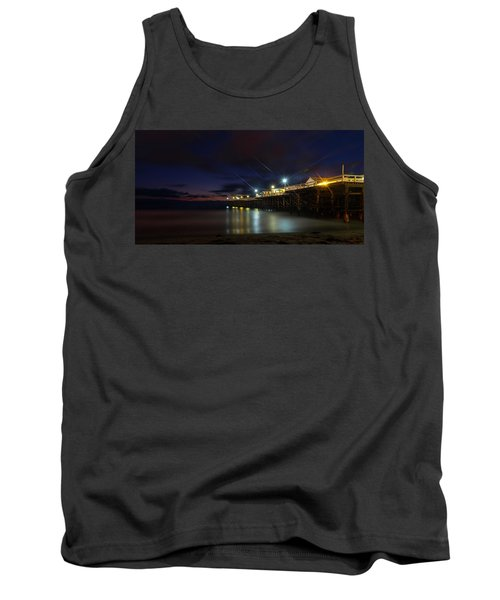 Crystal Beach Pier Blue Hour  Tank Top