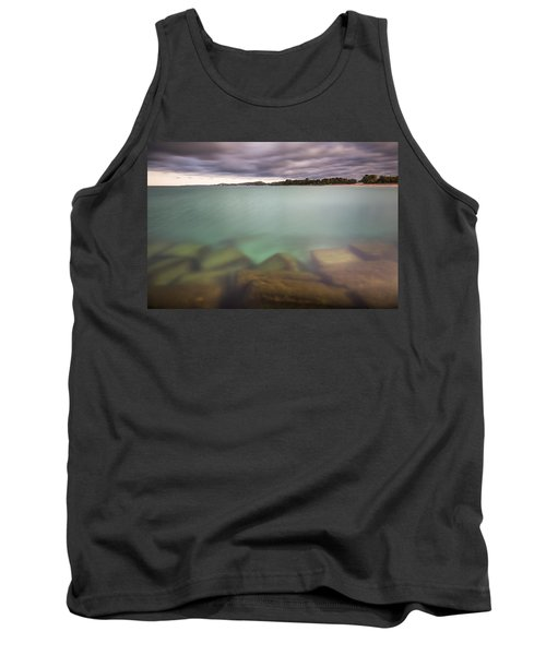 Tank Top featuring the photograph Crystal Clear Lake Michigan Waters by Adam Romanowicz