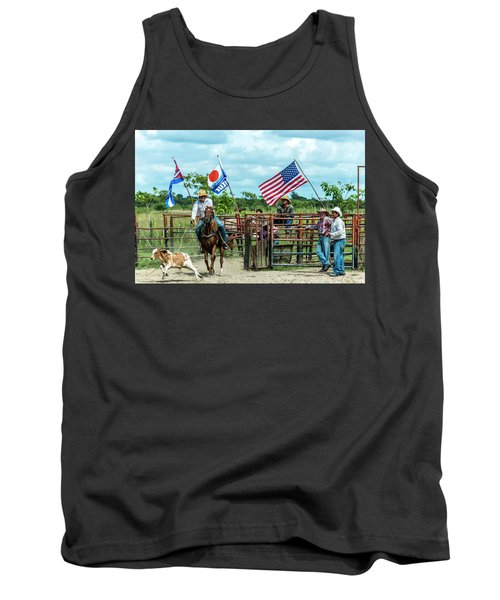 Tank Top featuring the photograph Cuban Cowboys by Lou Novick
