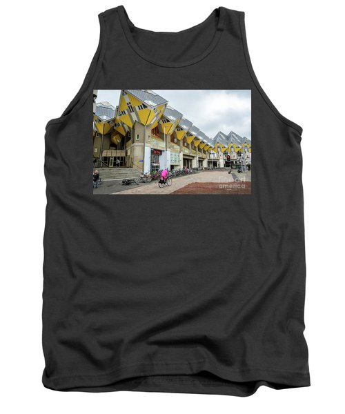 Tank Top featuring the photograph Cube Houses In Rotterdam by RicardMN Photography