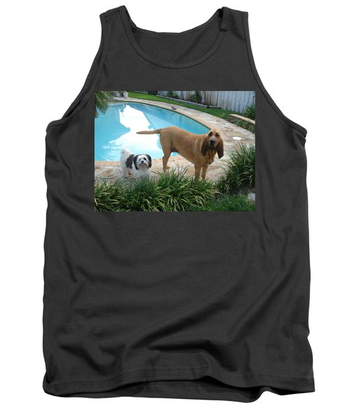 Cujo And Lucky Tank Top by Val Oconnor