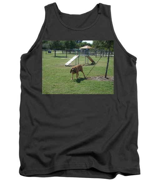 Cujo At The Park Tank Top by Val Oconnor