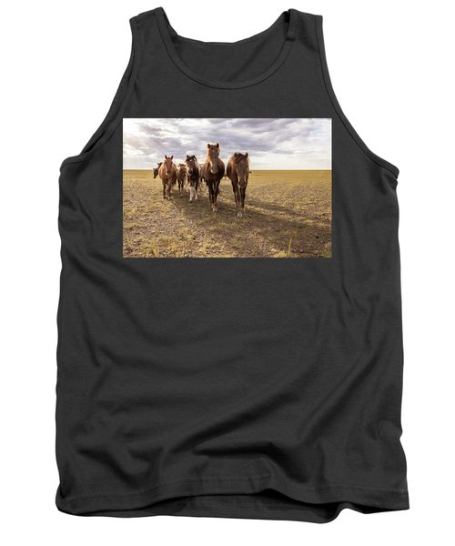 Tank Top featuring the photograph Curious Horses by Hitendra SINKAR