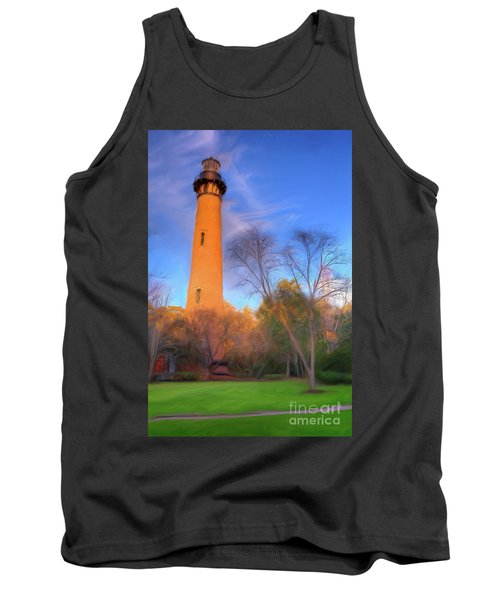 Currituck Lighthouse In Winter Outer Banks Ap Tank Top by Dan Carmichael