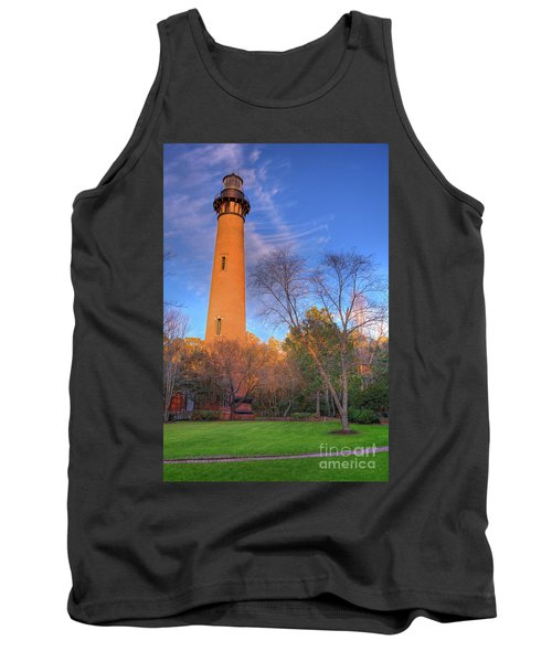 Currituck Lighthouse In Winter Outer Banks Tank Top by Dan Carmichael
