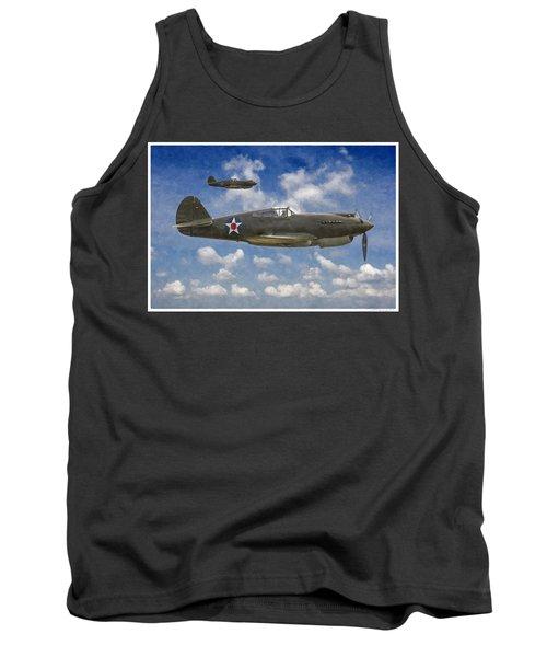 Curtis P-40 Warhawks Tank Top by Kai Saarto