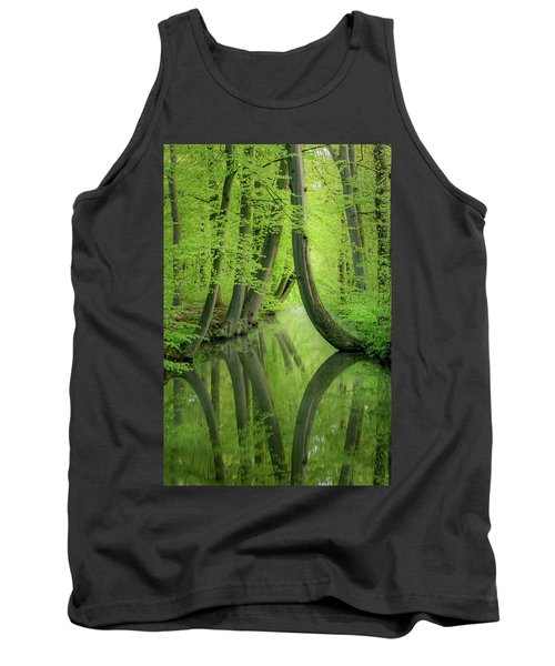 Curved Trees Tank Top