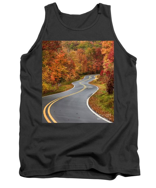 Curvy Road In The Mountains Tank Top