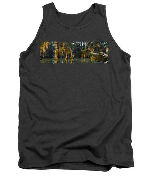 Cypress Island Gator Tank Top by Kimo Fernandez
