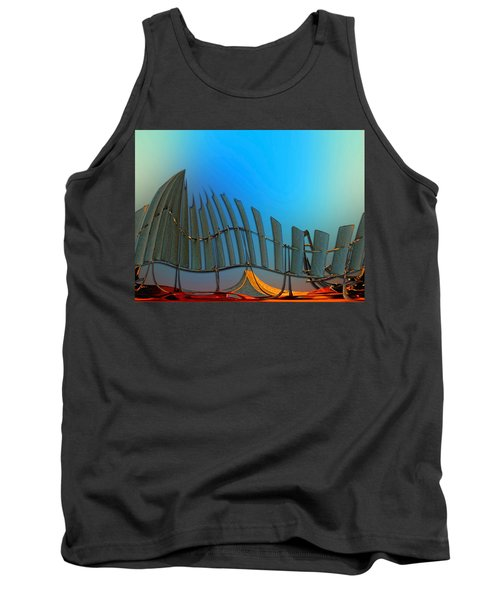 Da Vinci's Outpost Tank Top by Wendy J St Christopher